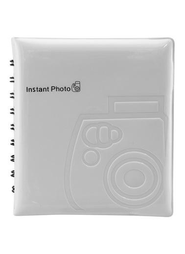 Fujifilm instax mini Film Uyumlu Beyaz 64'lü Kare Albüm Renkli